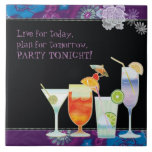 Colourful Floral Cocktails New Home Party Gift TIl