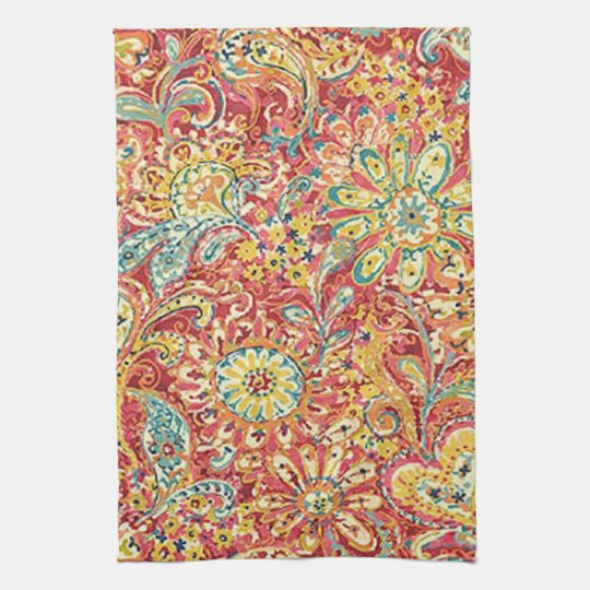 Colourful Floral Kitchen Towel