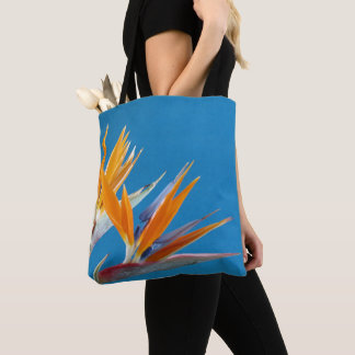 Colourful floral tote bag