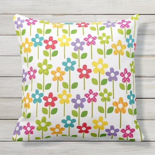 Colourful Flower Outdoor Garden Pillow