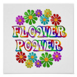 Colourful Flower Power Poster