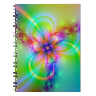 Colourful Flower With Ribbons Note Book