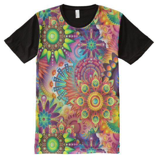 Colourful Flowers All-Over-Print T-Shirt