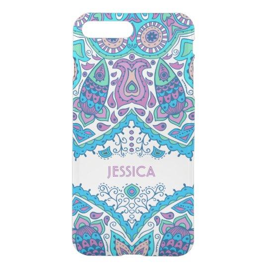 Colourful Flowers Blue Overtones iPhone 7 Plus Case