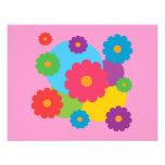 Colourful Flowers Custom Announcement