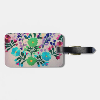 Colourful Flowers Pattern Bag Tag