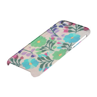 Colourful Flowers Pattern Clear iPhone 6/6S Case