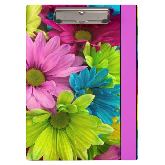 Colourful Flowers & Pattern Clipboard