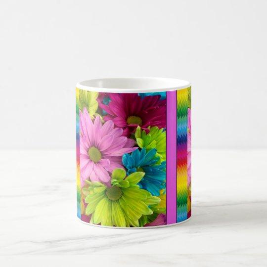 Colourful Flowers & Pattern Coffee Mug