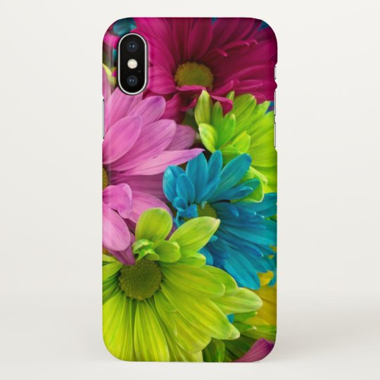 Colourful Flowers & Pattern iPhone X Case