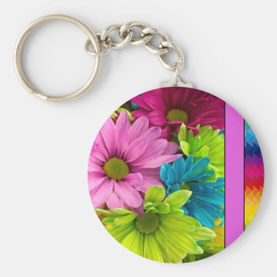 Colourful Flowers & Pattern Keychain