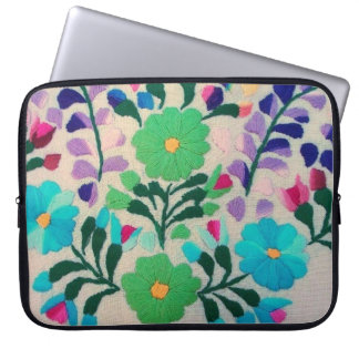 Colourful Flowers Pattern Laptop Sleeve
