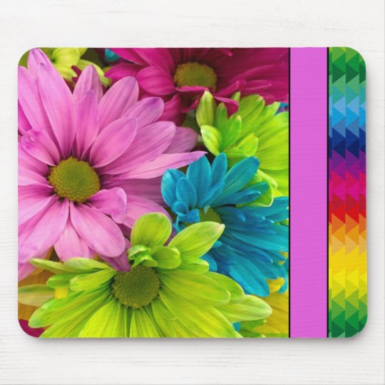 Colourful Flowers & Pattern Mouse Pad
