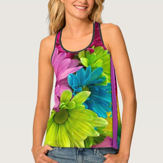 Colourful Flowers & Pattern Tank Top