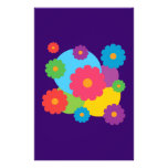 Colourful Flowers Stationery Design