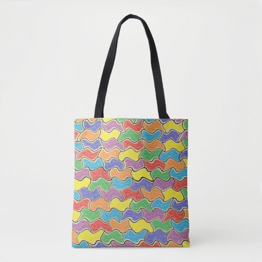 Colourful Fluctuations Tote Bag