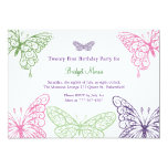 Colourful Fluttering Butterflies 21st Birthday