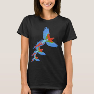 Colourful Flying Macaws T-Shirt