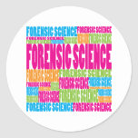 Colourful Forensic Science Round Stickers