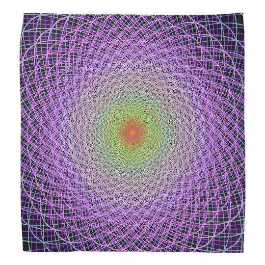 Colourful fractal bandana