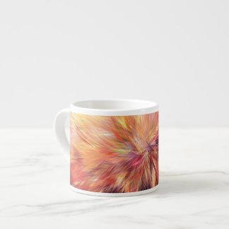 Colourful Fractal Line Art Abstract Espresso Mug