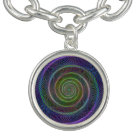 Colourful fractal spiral bracelet