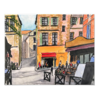 Colourful French Cafes - Photo Print
