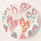 Colourful & fun flip flop summer fun! coaster