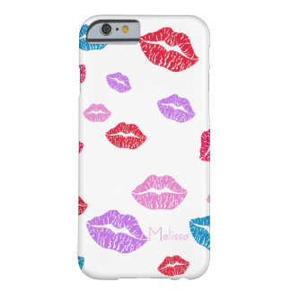 Colourful- fun kissing lips barely there iPhone 6 case