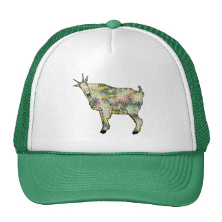 Colourful funny goat design trucker hat
