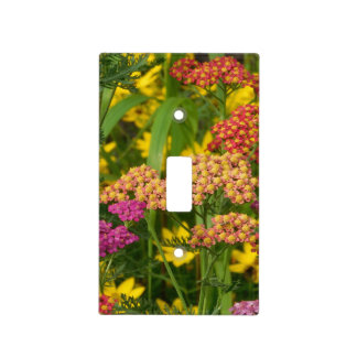 Colourful Garden Flowers Light Switch Plate