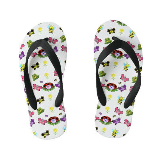 Colourful Garden Kids Flip Flops
