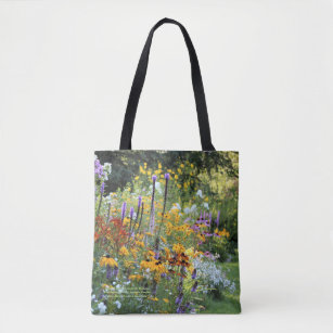 Colourful Gardens Along the Pathways Tote Bag