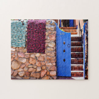 Colourful Gate Way Santa Fe New Mexico. Jigsaw Puzzle