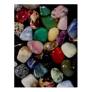 Colourful Gem Stones Postcard
