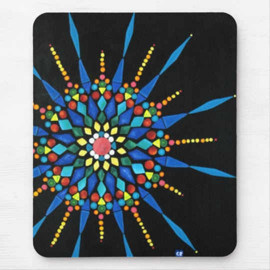 Colourful Gemstones Mosaic Mouse Pads