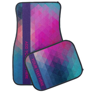 Colourful Geometric Car Mat - Add Your Text