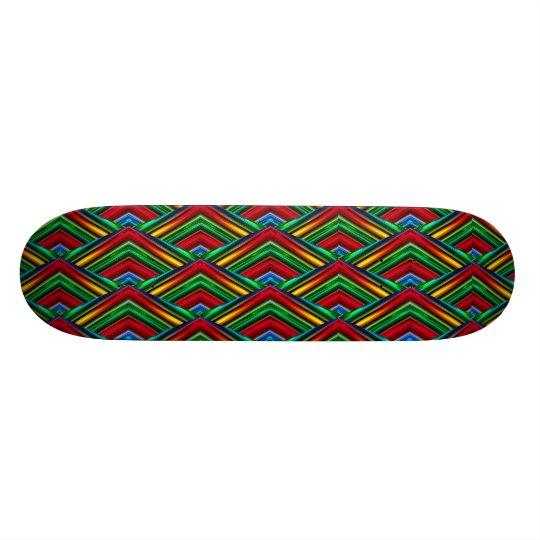 Colourful Geometric Design Skateboard