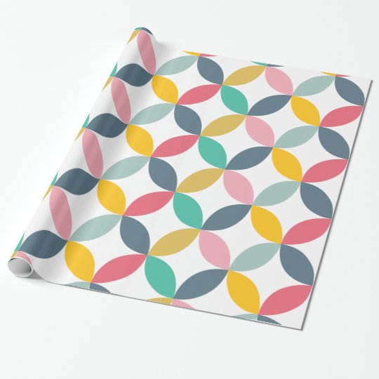 Colourful Geometric  Modern Pattern Wrapping Paper