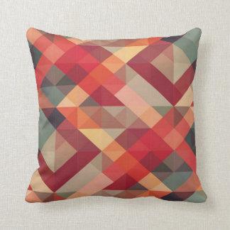 Colourful geometric pattern pillow