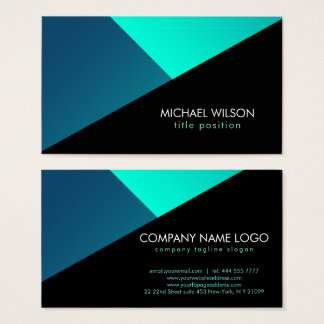 Colourful Geometric Shapes Business Card