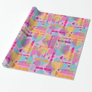 Colourful geometric shapes gift wrap