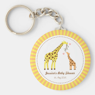 Colourful Giraffe Mommy and Baby Party Favors Keychain