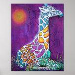 Colourful Giraffe Poster