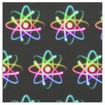 Colourful Glowing Atom (001) Fabric