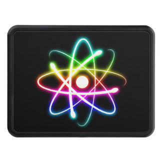 Colourful Glowing Atom - Hitch Cover