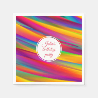 Colourful Gradients Abstract Art | Birthday Party Disposable Napkin