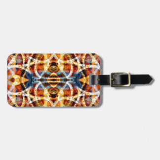 Colourful graffiti pattern luggage tag