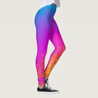 Colourful Grunge Abstract Leggings