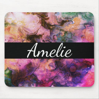 Colourful, Grunge Abstract Paint Mouse Pad
